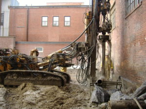 Geotechnical drilling in Portland, Maine