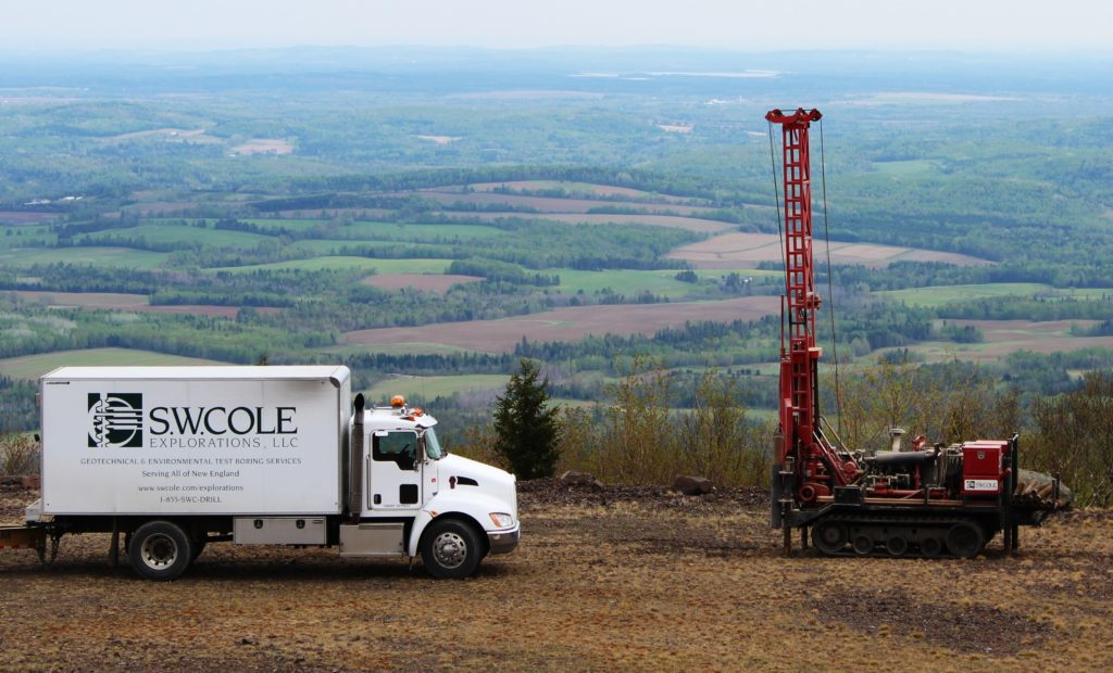 S. W. Cole Explorations, LLC truck and drill rig