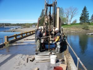 Geotechnical drilling on the old bridge
