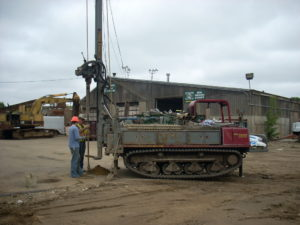 Industrial Drilling at the metal recycling facility
