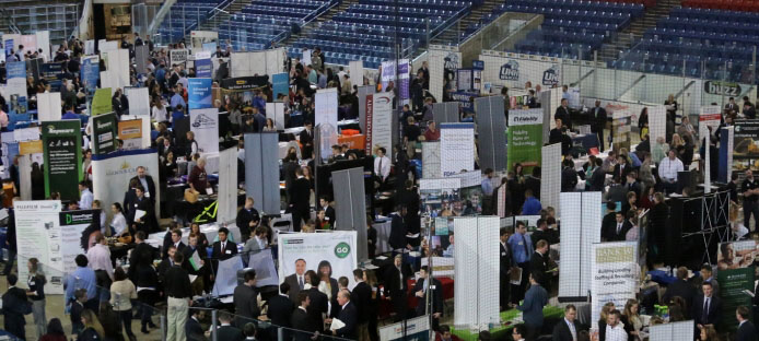 A photograph from a recent UNH Career Fair